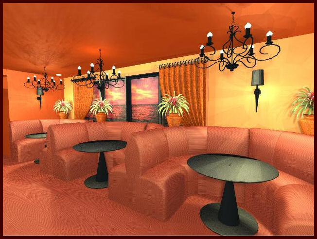 Indian Restaurant 3D Computer Design